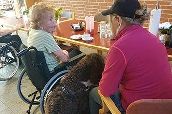 Terapihund fra Danske Terapihunde på plejehjem